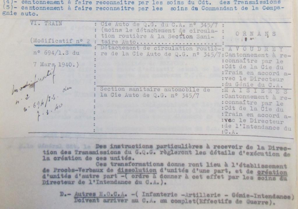 Cie 345/7 - Cie Auto de QG du train de Forteresse (45e CAF) 19400214