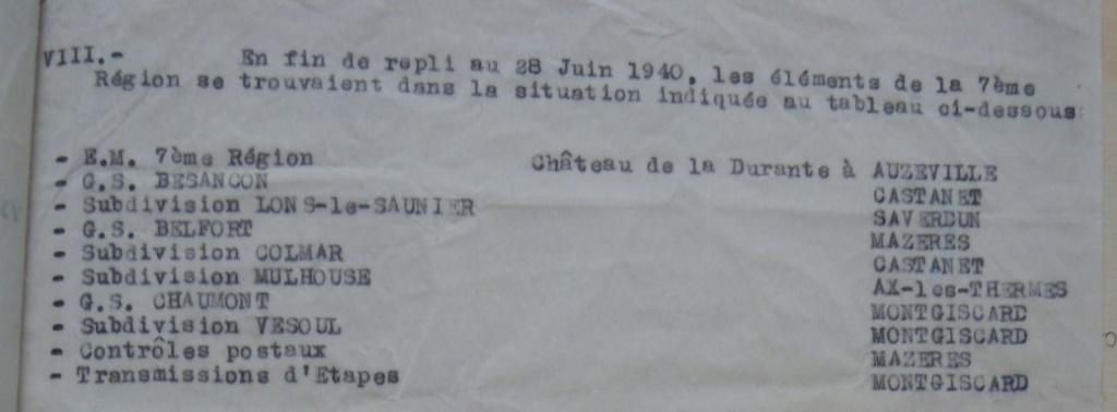 Commandant de la 7e Région militaire 19400643