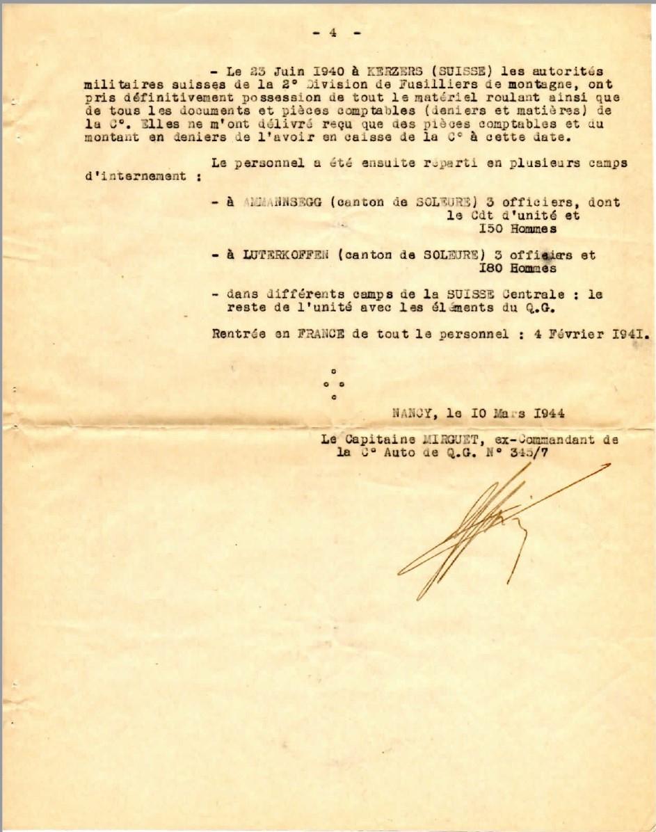 Cie 345/7 - Cie Auto de QG du train de Forteresse (45e CAF) 19440316