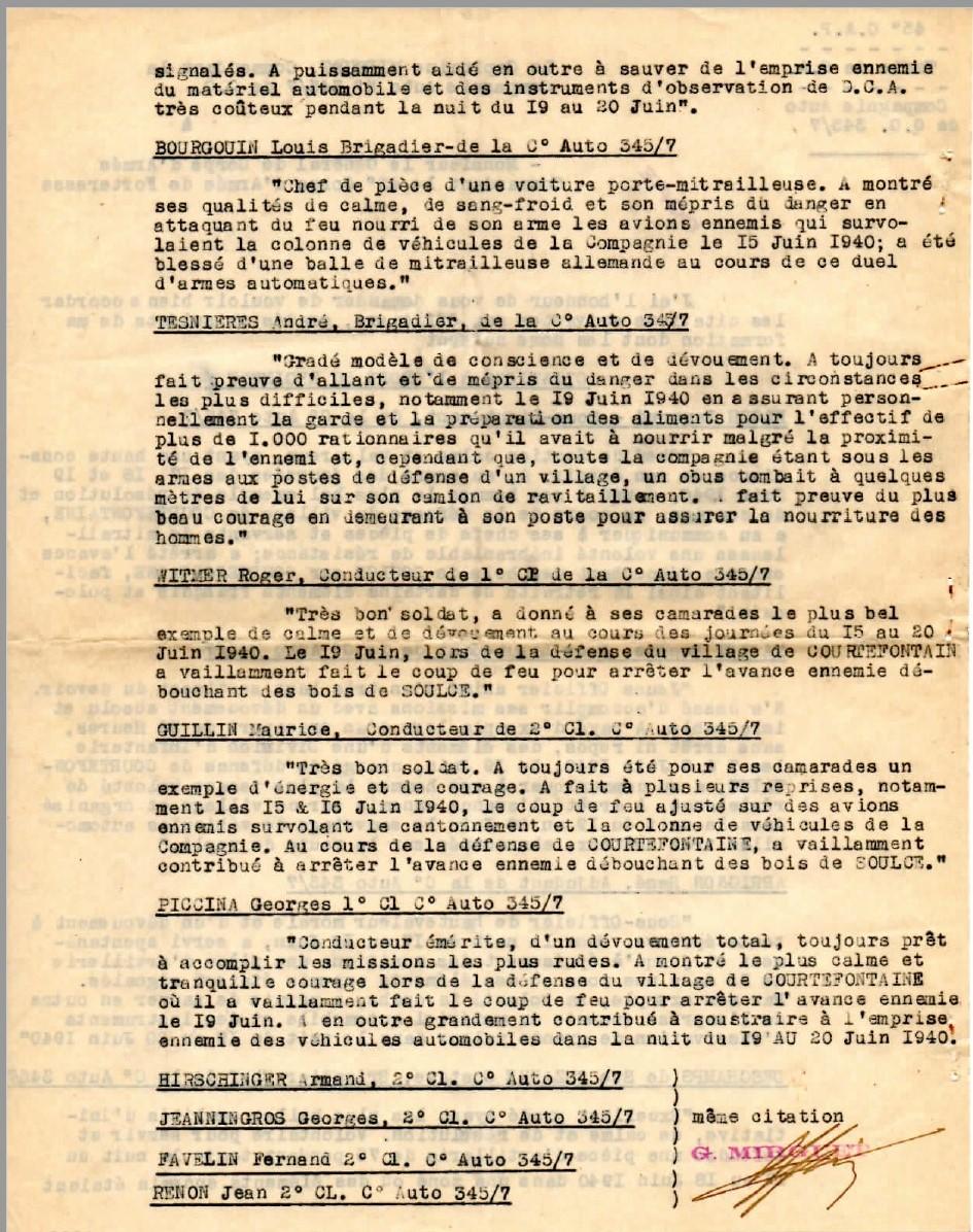 Cie 345/7 - Cie Auto de QG du train de Forteresse (45e CAF) 19440318