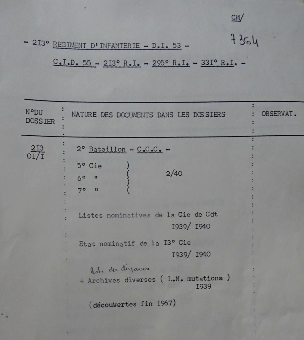 Les bataillons de disponibles ou XXIe Bataillon de RI 213-0110