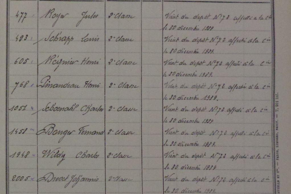 Les bataillons de disponibles ou XXIe Bataillon de RI 4etrim19