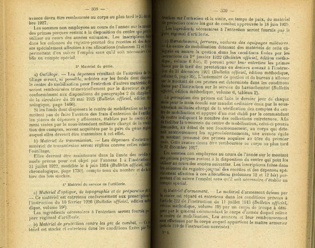 Centre de Mobilisation : Création et organisation + liste 1930 Bopp-122
