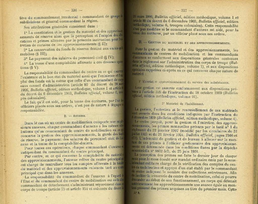 Centre de Mobilisation : Création et organisation + liste 1930 Bopp-123