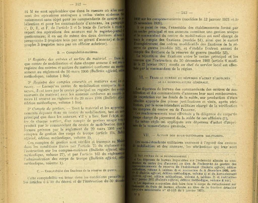 Centre de Mobilisation : Création et organisation + liste 1930 Bopp-126