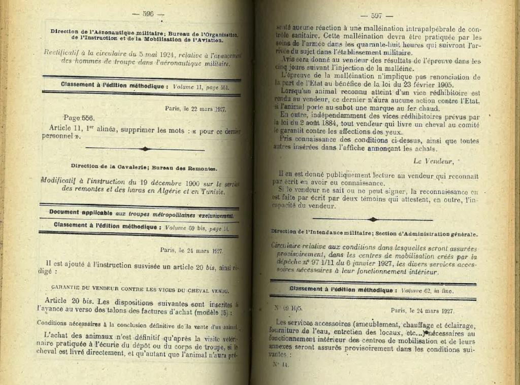 Centre de Mobilisation : Création et organisation + liste 1930 Bopp-127