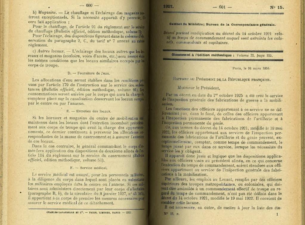 Centre de Mobilisation : Création et organisation + liste 1930 Bopp-128