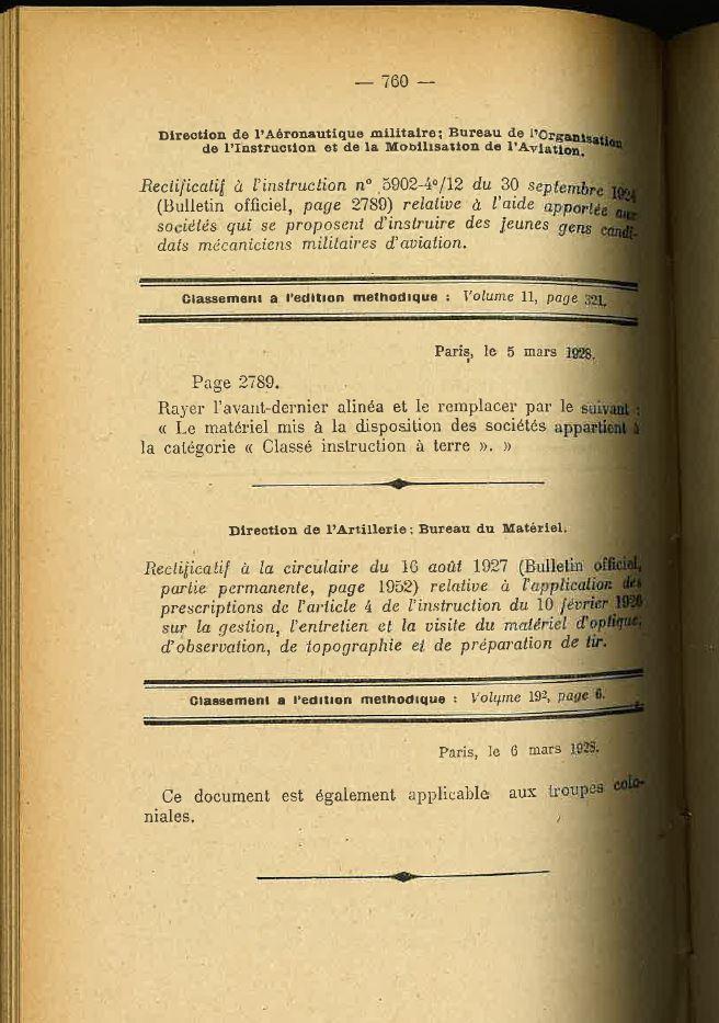 Centre de Mobilisation : Création et organisation + liste 1930 Bopp-139