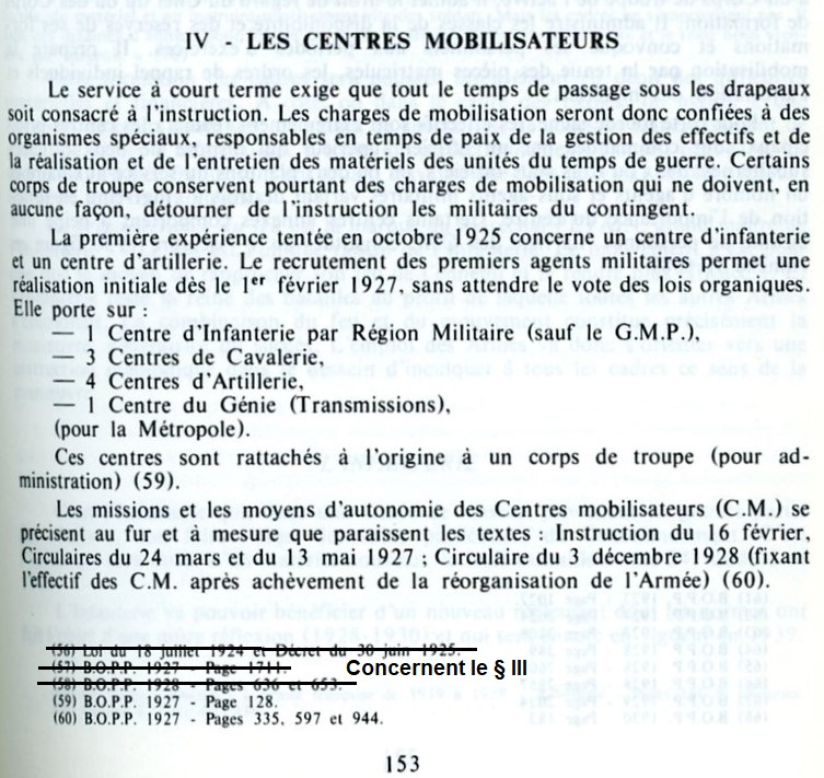 Centre de Mobilisation : Création et organisation + liste 1930 Cm-org11