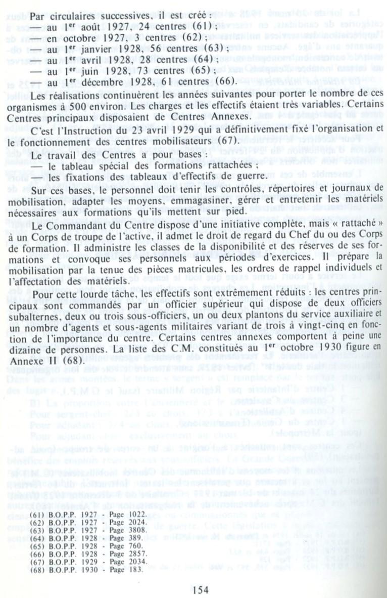 Centre de Mobilisation : Création et organisation + liste 1930 Cm-org12