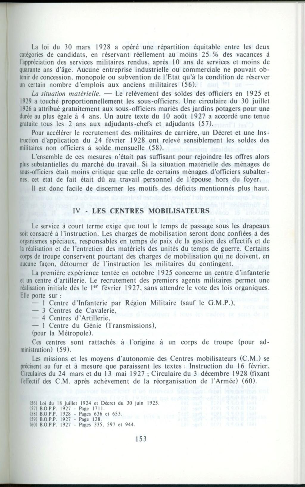 Centre de Mobilisation : Création et organisation + liste 1930 Detail15