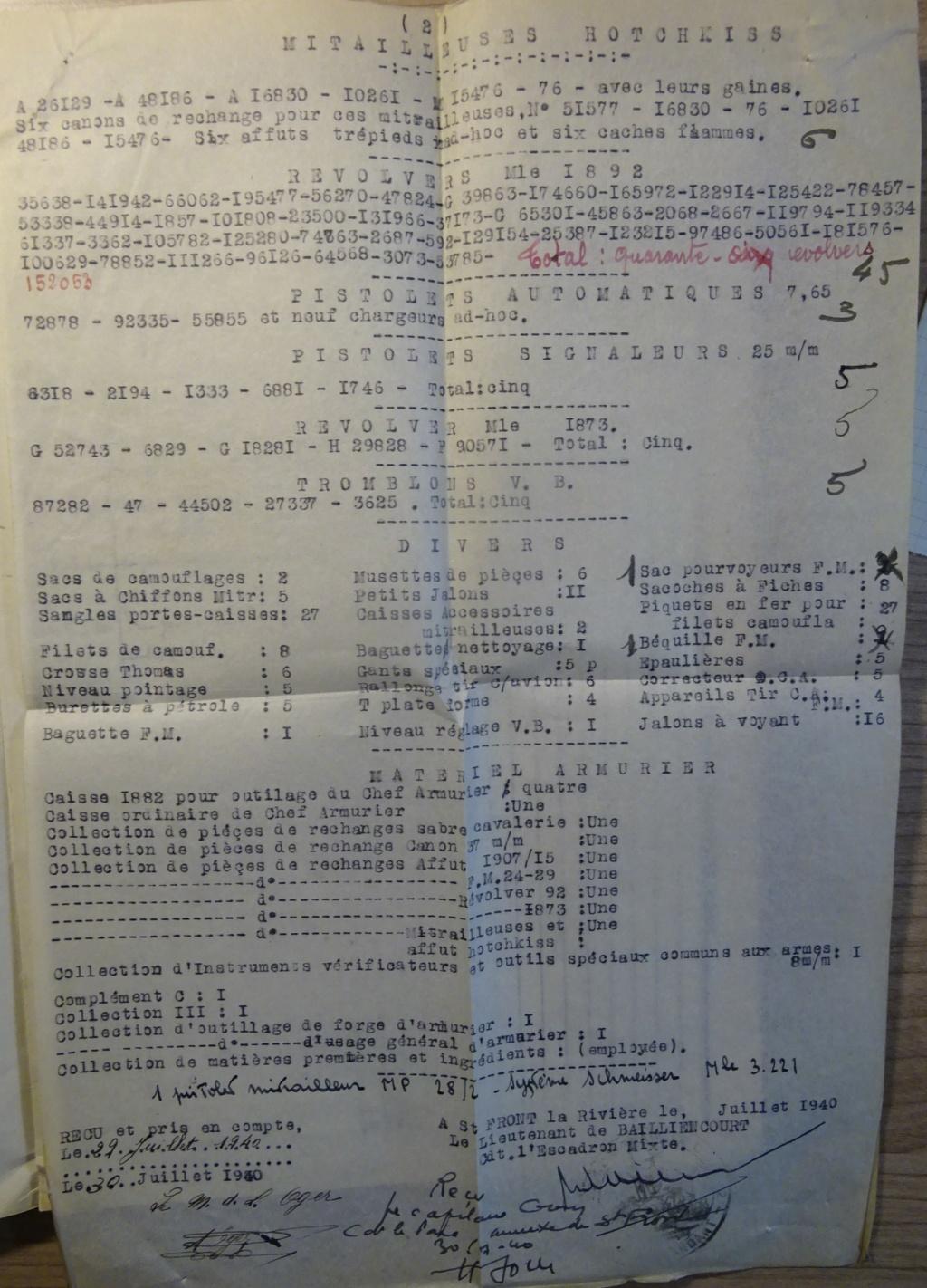Des N° de série mitrailleuses, FM et même un Mortier Dsc07623