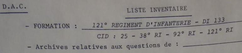 Les bataillons de disponibles ou XXIe Bataillon de RI Xxi-1210