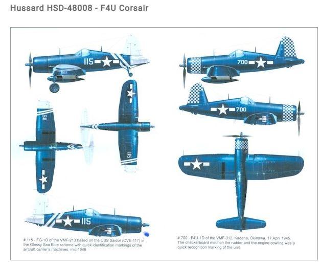 Fil rouge 2021 * Corsair F4U-4 au 1/48 de chez Hasegawa 718