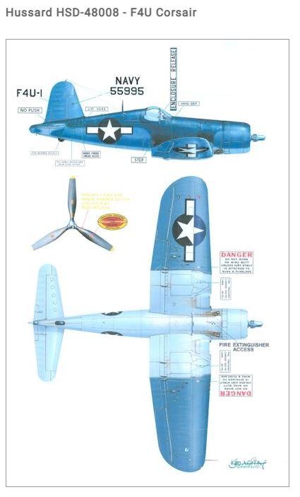 Fil rouge 2021 * Corsair F4U-4 au 1/48 de chez Hasegawa 914