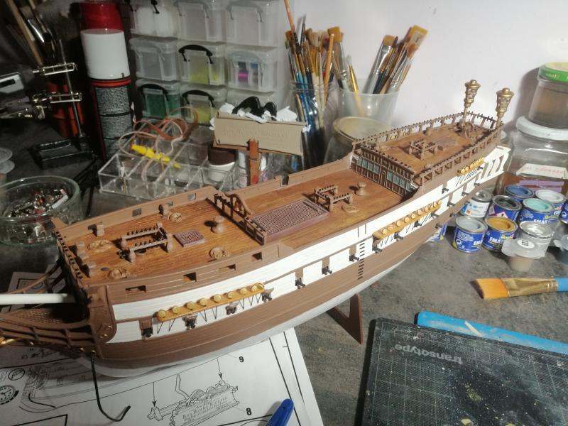 Frégatte USS BONHOMME RICHARD1/132ème Revell - Page 5 9913