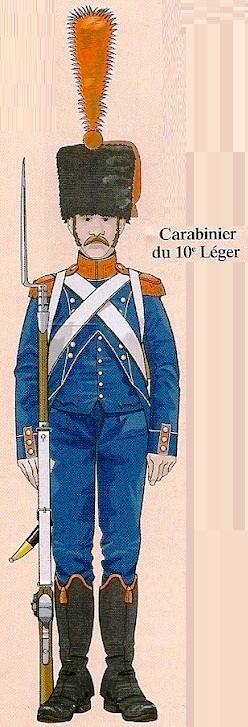 Voltigeur d'infanterie légère en  Colback 1809 MM54mm -10zo10