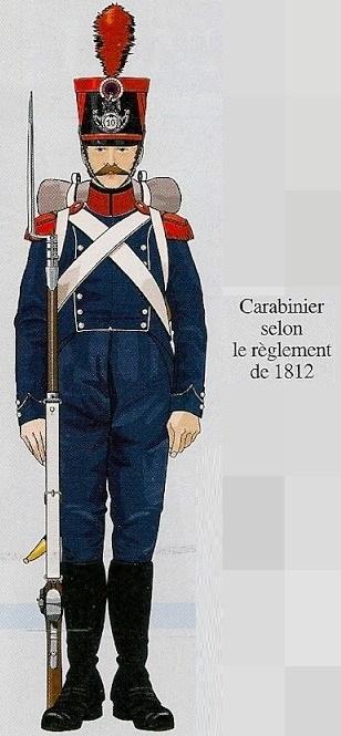 Voltigeur d'infanterie légère en  Colback 1809 MM54mm 1015