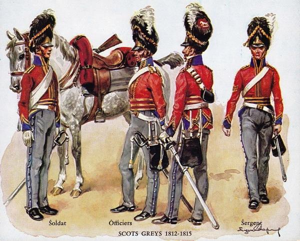 Cavalier scots greys+ cuirassier Français ESCI Histor10