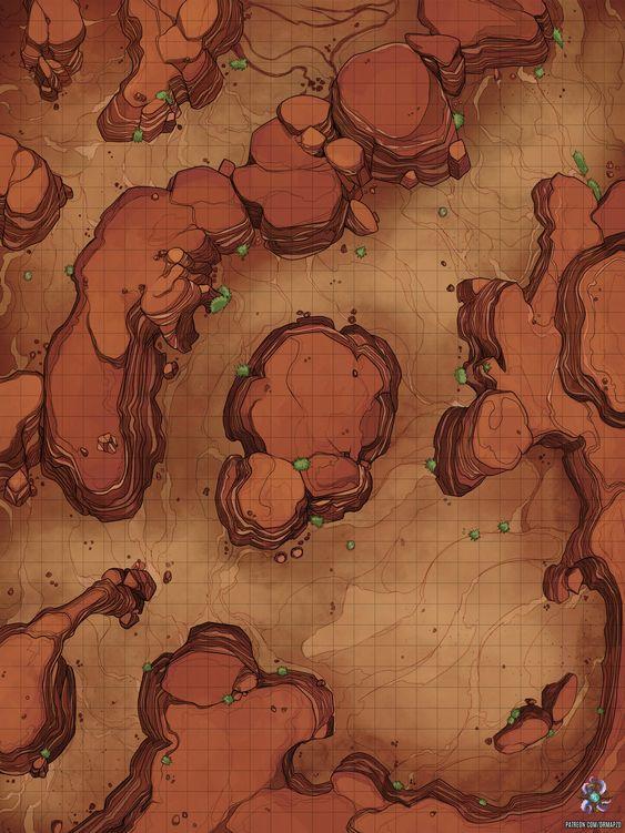 Les terres interdites. Maps_e11