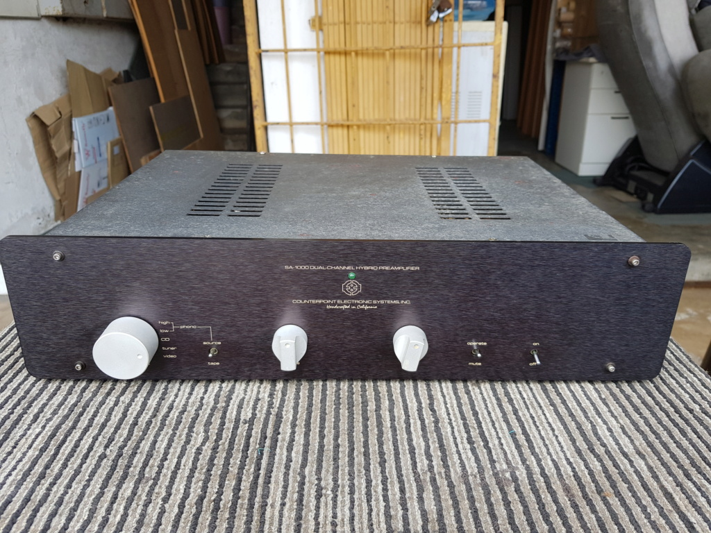 Counterpoint SA-1000 Dual Channel Pre Amp & SA-12 Dual Channel Hybrid Tube/MOSFET Power Amp - sold  20190722