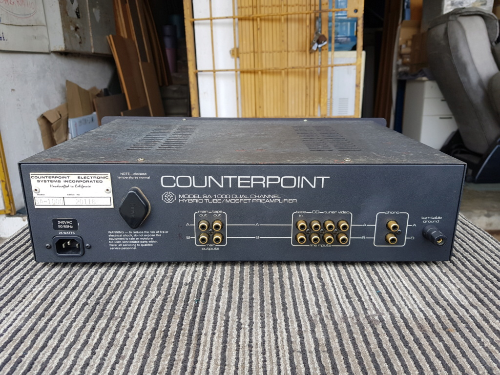 Counterpoint SA-1000 Dual Channel Pre Amp & SA-12 Dual Channel Hybrid Tube/MOSFET Power Amp - sold  20190723
