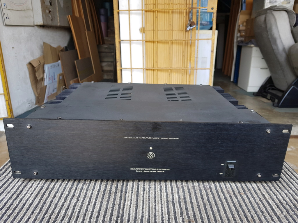 Counterpoint SA-1000 Dual Channel Pre Amp & SA-12 Dual Channel Hybrid Tube/MOSFET Power Amp - sold  20190724