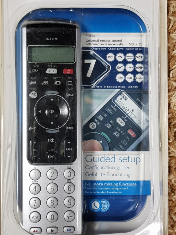Philips SRU5170 Universal Remote Control (New) 20191046