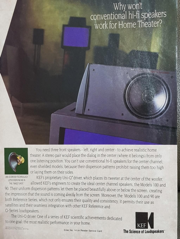 KEF Reference Series Model 100 centre speaker (Sold) 20191064