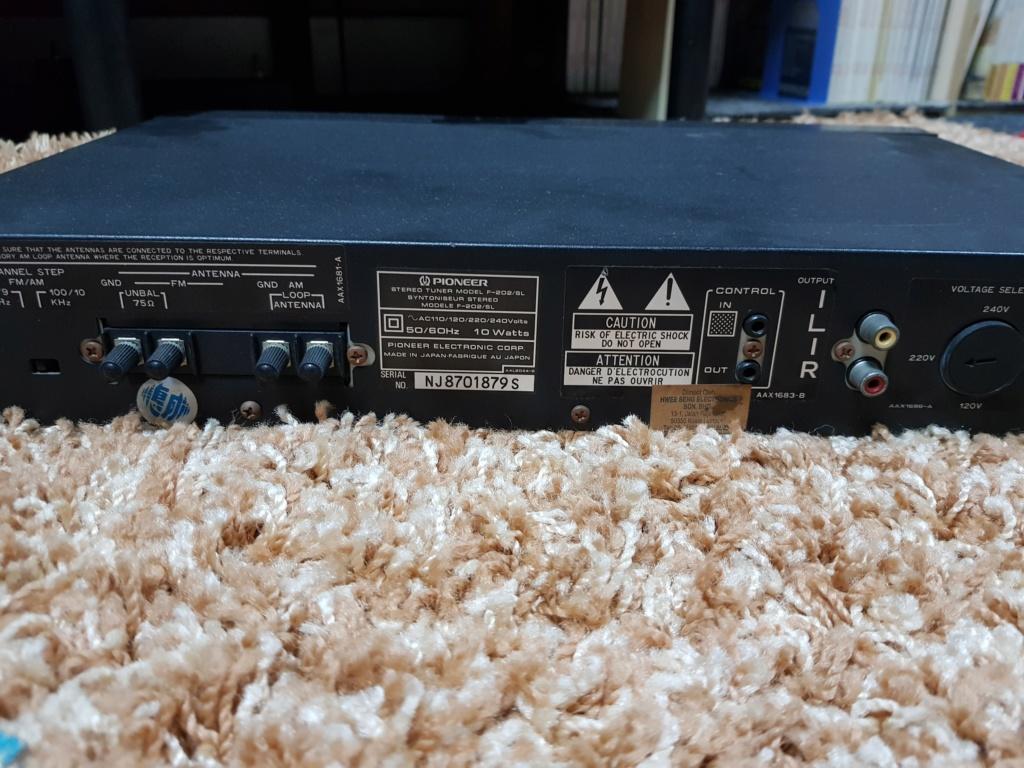 Pioneer F-202/SL FM/AM Digital Synthesizer Tuner (Used) 20191213