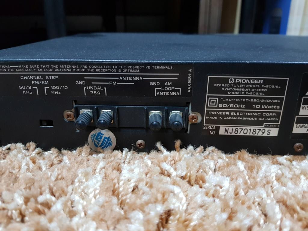 Pioneer F-202/SL FM/AM Digital Synthesizer Tuner (Used) 20191214