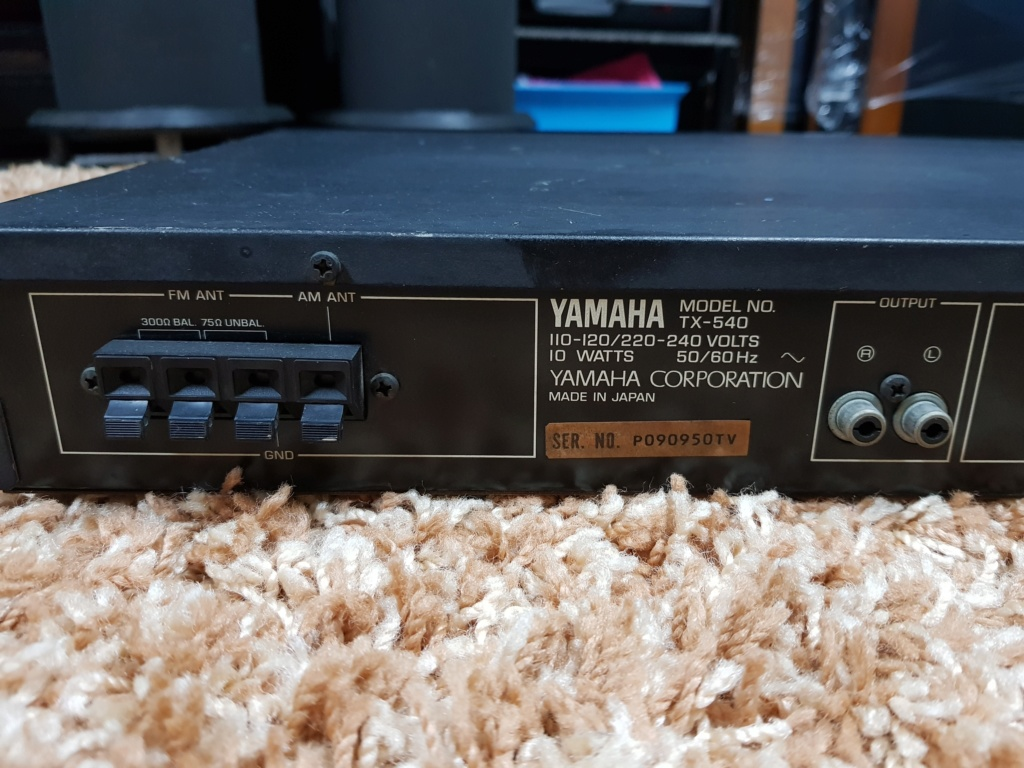 Yamaha TX-540 Natural Sound AM/FM Tuner (Used) 20191229