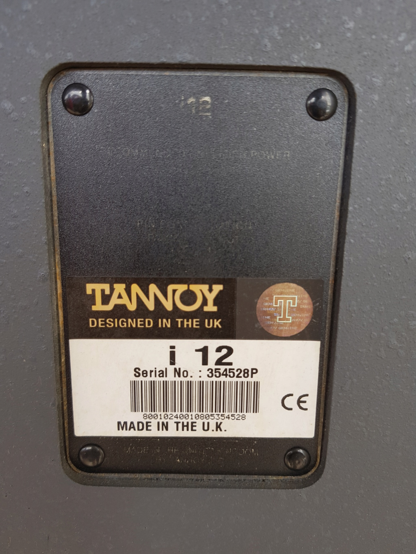 Tannoy i12 speaker (Used) 20200617