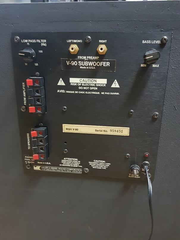 """M&K V-90 subwoofer 12"""" (sold) 20201239"""