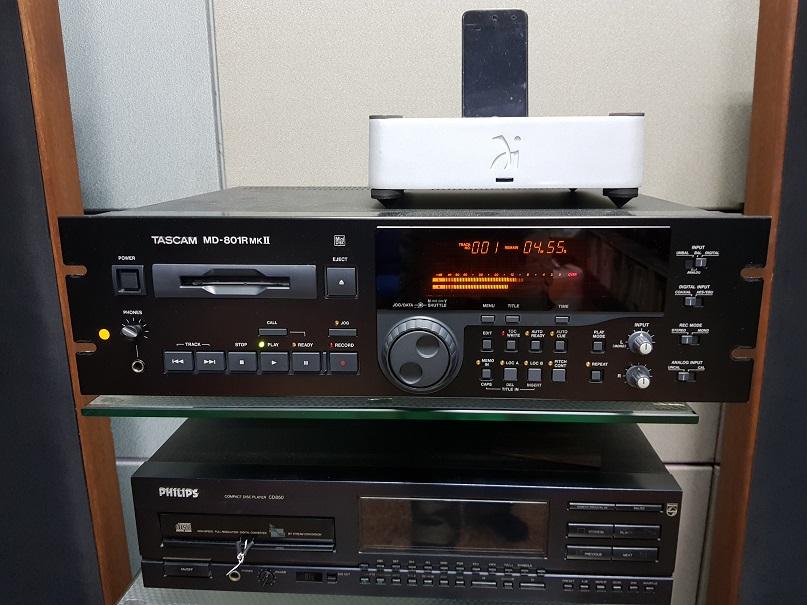 Tascam MD-801R MK-II Professional Studio MiniDisc MD Recorder Player(Used) 20201260