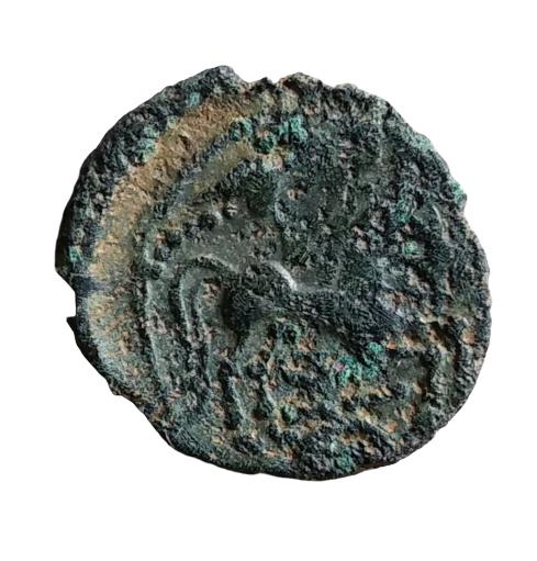 bronze gaulois au cheval et profil à droite à identifier 11-rem10