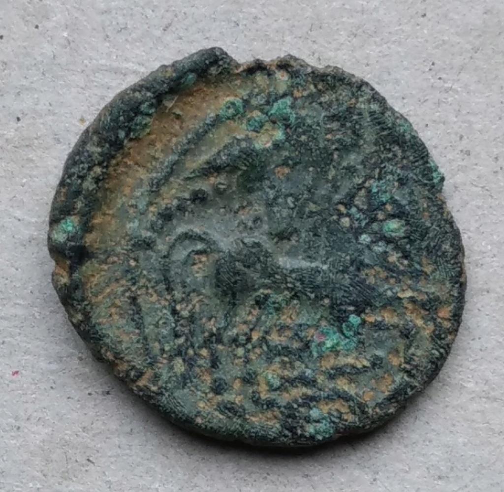 bronze gaulois au cheval et profil à droite à identifier 110