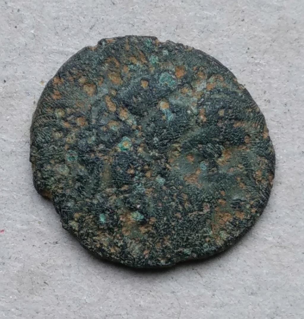bronze gaulois au cheval et profil à droite à identifier 210