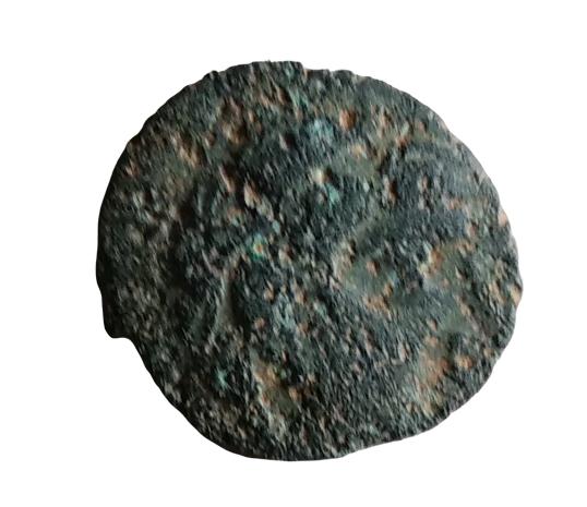bronze gaulois au cheval et profil à droite à identifier 22-rem10