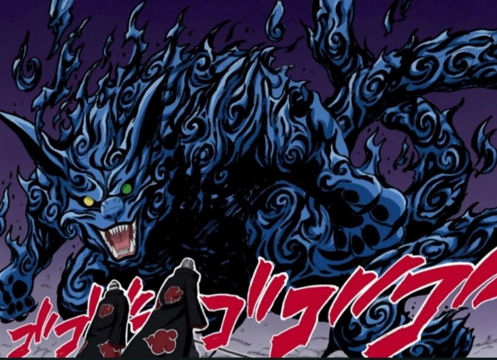Matatabi vs Amaterasu. Potencial da Shakunetsu no Gōka Scree281
