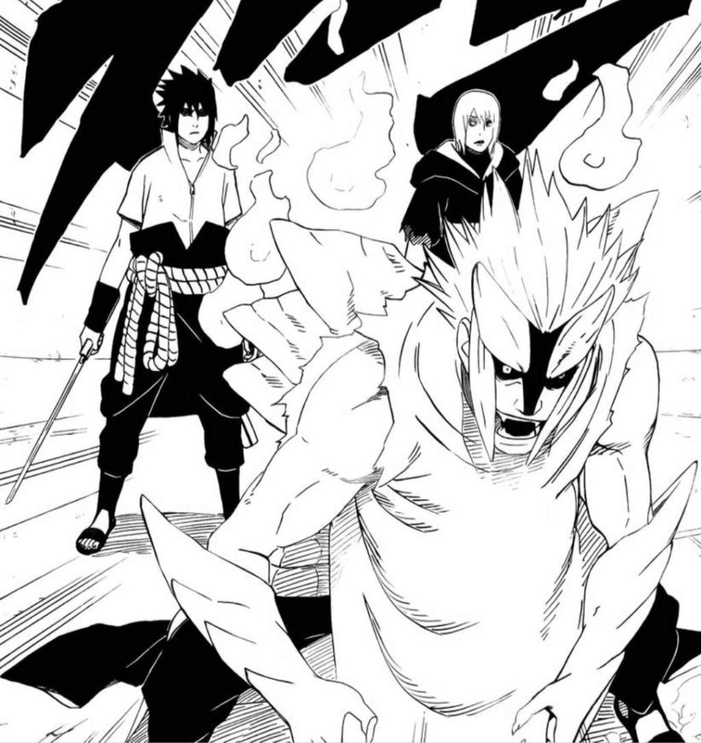 Mei Terumi vs Jūgo, Karin e Suigetsu Scree540