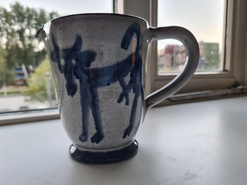 Earthenware jug with monogram 20200719
