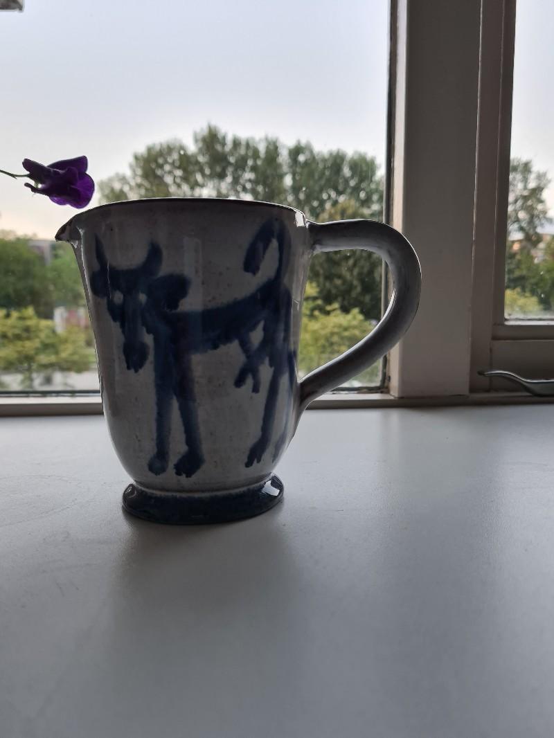 Earthenware jug with monogram 20200720