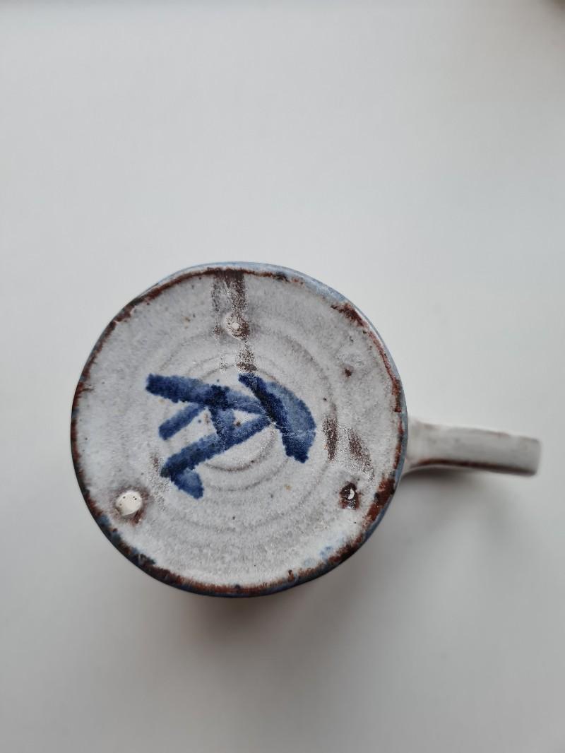 Earthenware jug with monogram 20200721