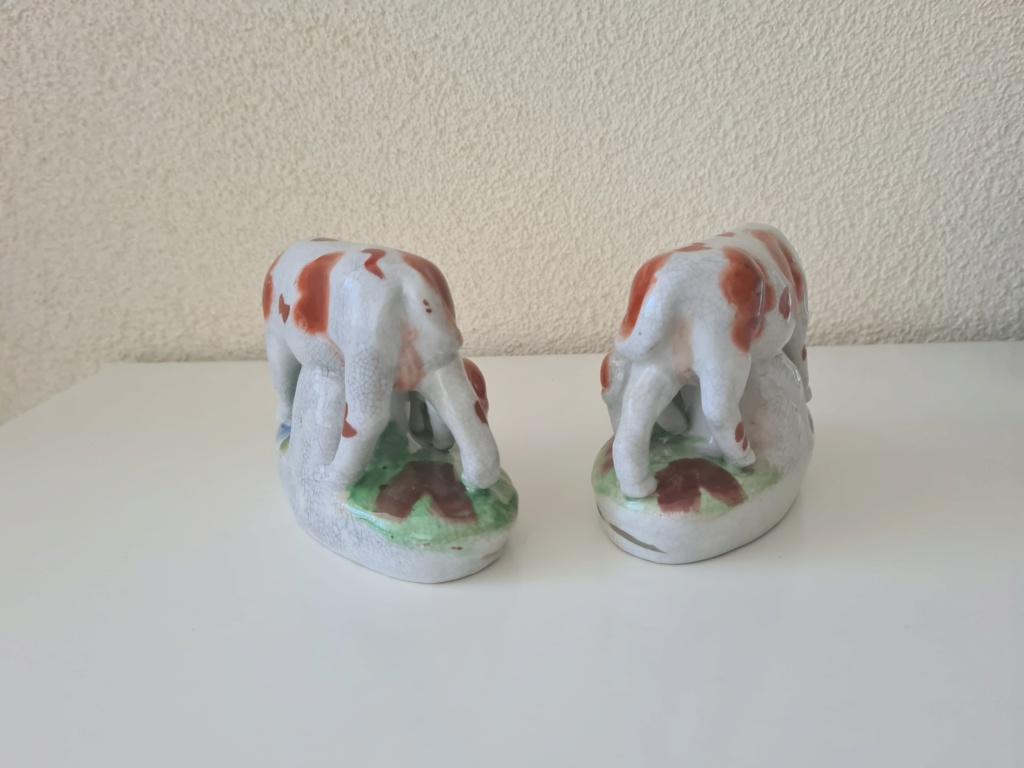 Cow & calf figurines - Staffordshire? earthenware ? 20200810