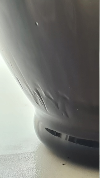 Glass vase with swirld ears 20200877