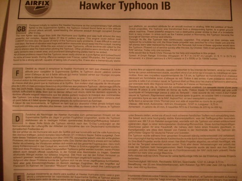 Comparatif des Typhoons mk 1 B de diverses marque S7305723