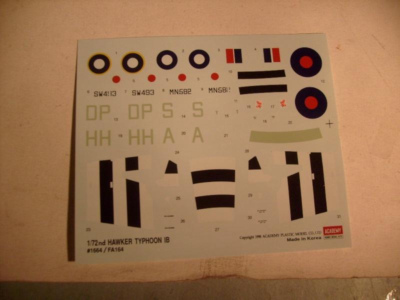 Comparatif des Typhoons mk 1 B de diverses marque S7305777