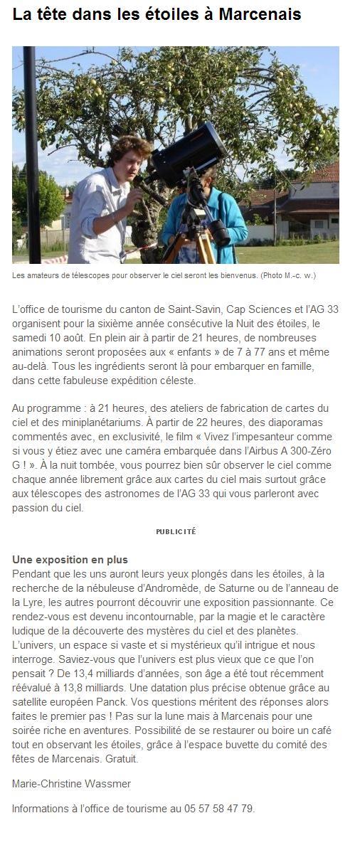 Nuit des Etoiles samedi 10 août 2013 à Marcenais 126