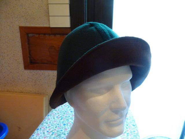 Transformation de mon chapeau fedora Vert10